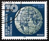 Znaczku nrd 1990 księżyc — Zdjęcie stockowe