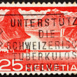 Postage stamp Switzerland 1949 Lake Dam, Hydroelectric Power — Stock Photo