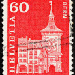 Postage stamp Switzerland 1960 Clock Tower, Bern, Switzerland — Stock Photo
