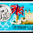 ������, ������: Postage stamp Manama 1968 Olympic Games London 1948 Great Brita