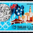 Postage stamp Manama 1968 Olympic Games Melbourne 1956, Australi — Stock Photo