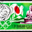 Postage stamp Manama 1968 Olympic Games Tokyo 1964, Japan — Stock Photo