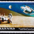 Postage stamp Manama 1972 Astronaut and Radar Antenna, Apollo 15 — Stock Photo
