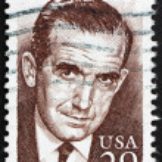 Postage stamp USA 1994 Edward Roscoe Murrow, Journalist — Stock Photo