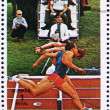 Stock Photo: Postage stamp Umm al-Quwain 1972 Sprint, Olympic Games of pa