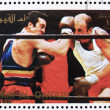 Postage stamp Umm al-Quwain 1972 Boxing, Olympic Games of the pa — Stock Photo