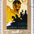 Postage stamp Umm al-Quwain 1972 Berlin 1936, Olympic Games of t — Stock Photo
