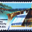 Postage stamp USA 1983 Hydroelectric Power Plant — Stock Photo