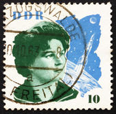 Postage stamp GDR 1963 Valentina Tereshkova and Space Craft — Stock Photo