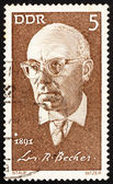 Postage stamp GDR 1971 Johannes R. Becher, Politician and Writer — Stock Photo