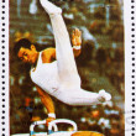 Postage stamp Umm al-Quwain 1972 Pommel Horse, Summer Olympics, — Stock Photo