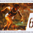 Postage stamp Umm al-Quwain 1972 Sprint, Summer Olympics, Munich — Stock Photo #11289424