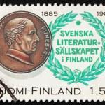 Постер, плакат: Postage stamp Finland 1985 Johan Ludvig Runeberg poet