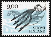 Postage stamp Finland 1984 Iron Fish Spear c.1100 — Stock Photo
