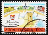 Postage stamp Finland 1989 Hameenlinna Township, Finland — Stock Photo