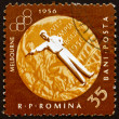 Postage stamp Romania 1961 Pistol Shooting, Olympic sports, Melb — Stock Photo