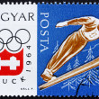 Postage stamp Hungary 1963 Ski Jumping, Olympic sports, Innsbruc — ストック写真