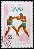 Postage stamp Romania 1968 Boxing, Olympic sports, Mexico 68 — Stock Photo