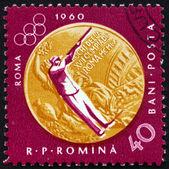 Postage stamp Romania 1961 Sharpshooting, Olympic sports, Rome 6 — Stock Photo