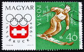 Postage stamp Hungary 1963 Slalom, Olympic sports, Innsbruck 64 — Fotografia Stock