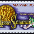 Postage stamp Hungary 1975 Dr. Albert Schweitzer, Nobel Peace Pr — Stock Photo