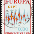 Postage stamp Finland 1972 Sparkles, Symbolic of Communications — 图库照片 #11378384