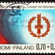Royalty-Free Stock Photo: Postage stamp Finland 1976 Disabled War Veterans' Emblem