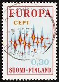 Postage stamp Finland 1972 Sparkles, Symbolic of Communications — Stock Photo