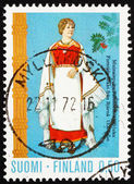 Postage stamp Finland 1972 Costume from Perni — Stock Photo