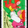 Postage stamp Finland 1987 Mother and Child, Christmas Joy — Stock Photo