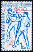 Posta pulu çekoslovakya 1964 boks, olimpiyatları, tokyo 64 — Stok fotoğraf