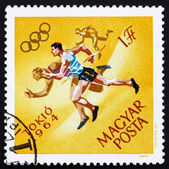Postage stamp Hungary 1964 Running, Olympic sports, Tokyo 64 — Stock Photo