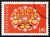 Postage stamp Finland 1988 Christmas Design — Stock Photo