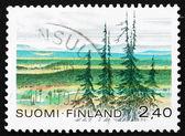 Estampilla finlandia 1988 urho kekkonen national park — Foto de Stock