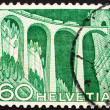 Postage stamp Switzerland 1949 Railway viaduct - Stock fotografie