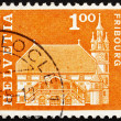 Stock Photo: Postage stamp Switzerland 1960 Town hall, Fribourg, Switzerland