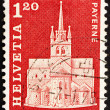 Postage stamp Switzerland 1968 Abbey Church, Payerne, Switzerlan — Stock Photo