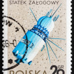Postage stamp Poland 1966 Vostok, USSR Spacecraft — Stock Photo #11401112