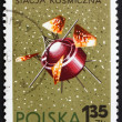 Stock Photo: Postage stamp Poland 1966 Proton 1, USSR Satellite
