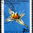 Royalty-Free Stock Photo: Postage stamp Poland 1966 Luna 9, USSR Spacecraft