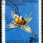 Postage stamp Poland 1966 Luna 9, USSR Spacecraft — Stock Photo #11401322