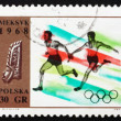 Stock Photo: Postage stamp Poland 1968 Relay Race, Olympic sports, Mexico 68