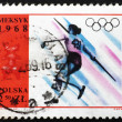 Постер, плакат: Postage stamp Poland 1968 Women's Javelin Olympic sports Mexic