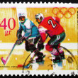 Postage stamp Poland 1968 Ice Hockey, Olympic sports, Grenoble 6 - Stock Photo