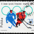 Postage stamp Poland 1964 Ice Hockey, Olympic sports, Innsbruck — Stockfoto #11401817
