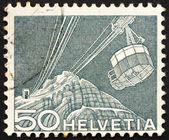 Postage stamp Switzerland 1949 Cable Car — Stock Photo