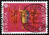 永恒效忠的邮票瑞士 1982年誓言 — 图库照片