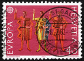 Postage stamp Switzerland 1982 Oath of Eternal Fealty — Zdjęcie stockowe