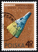 Postage stamp Poland 1966 Gemini, American Spacecraft — Stock Photo