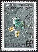 Postage stamp Poland 1966 Ariel 2, Satellite by Great Britain — Stock Photo